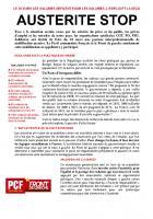 Communiqué de presse : manifestation du 18 mars 2014