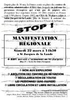 Rassemblement régional du 22 mars 2014 : contre les Centres de Rétention Administrative
