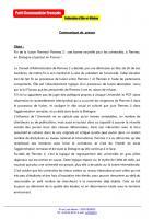 Communiqué de presse - PCF 35: fusion des universités
