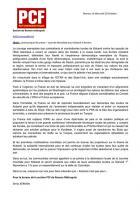 Communiqué de presse: situation à Kobané