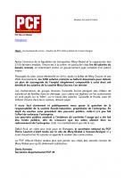 Communiqué de presse PCF 35 : Soutien du PCF à Mory Global de Cesson-Sévigné