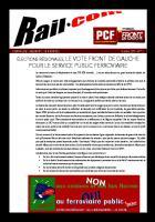 ÉLECTIONS RÉGIONALES, LE VOTE FRONT DE GAUCHE POUR LE SERVICE PUBLIC FERROVIAIRE