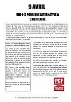 Jeudi 9 avril, journée de grève interprofessionnelle à l'appel de la CGT, FO, FSU et Solidaires
