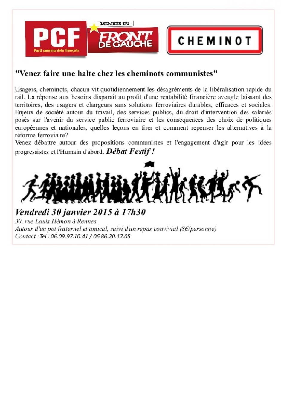 Venez faire une halte chez les cheminots communistes!