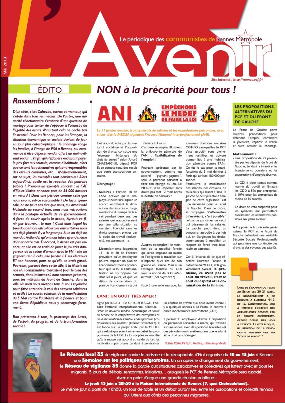 L'Avenir-mai 2013