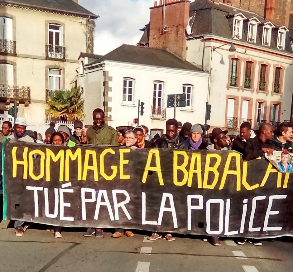 Marche en hommage à Babacar