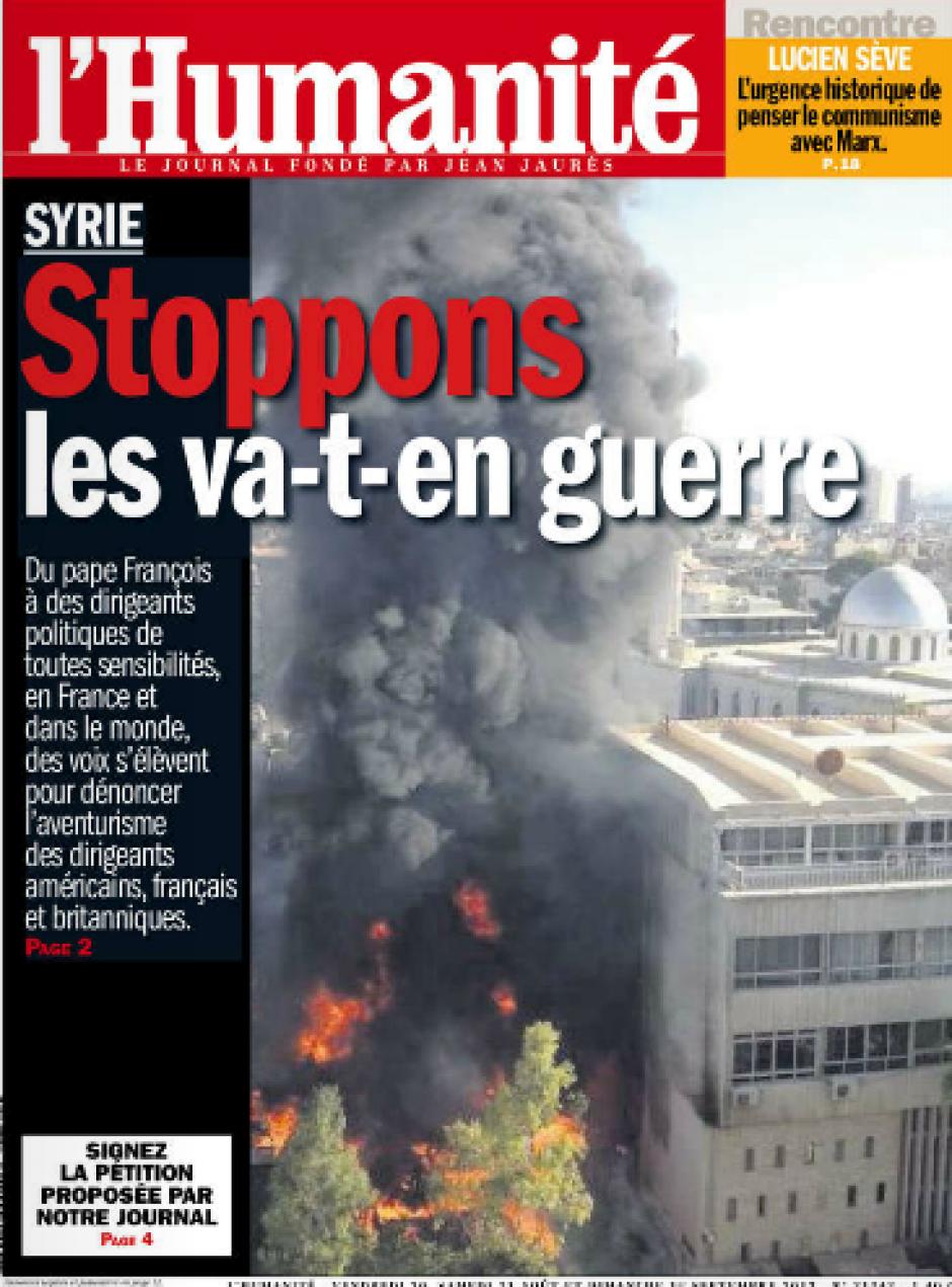 Syrie: la France doit prendre l'initiative politique (PCF)