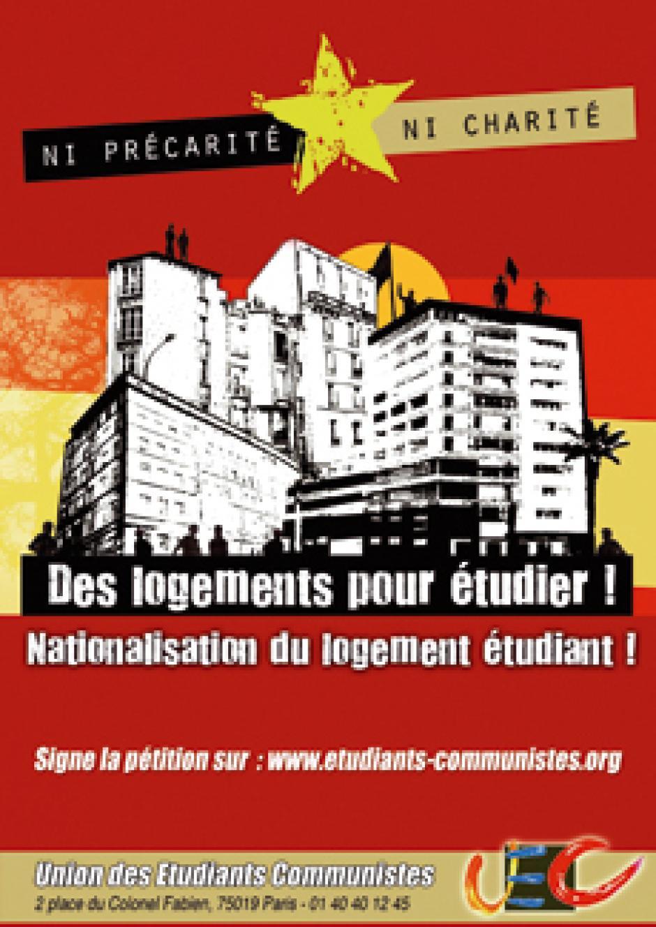« Ni précarité, ni charité : des logements pour étudier ! »