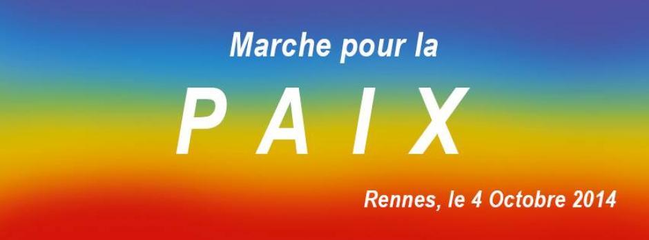 Ensemble marchons pour la paix le 4 octobre 2014